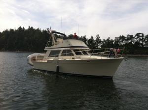 MV Tolly Roger leaving the dock!