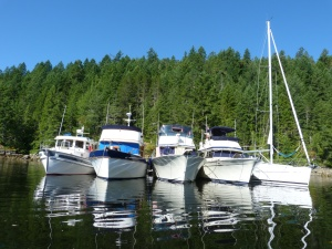 Rafted in Grace Harbour